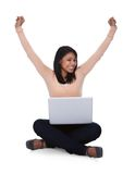 Young woman using laptop Stock Photography