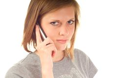 Young woman using mobile phone Royalty Free Stock Image