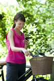 A young woman using a mobile phone Royalty Free Stock Images