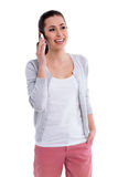 Young woman using mobile phone Stock Photos