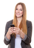 Young woman using smart phone Stock Photography