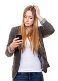 Young woman using smart phone Stock Photos