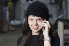 Young Woman Using Smart Phone. In the passage Stock Images