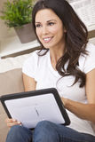 Young Woman Using Tablet Computer At Home Stock Photography