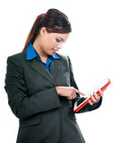 Young Woman Using Tablet Royalty Free Stock Photography