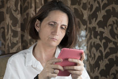 Young woman using tablet Stock Image