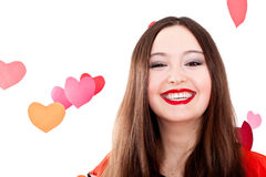 Young woman on Valentine's day Stock Images