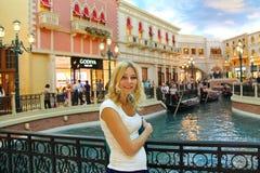 Young woman in Venetian  Hotel  in Las Vegas Royalty Free Stock Photo