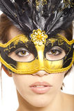 Young woman in venetian mask Stock Photos