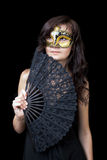 Young woman in Venetian mask Royalty Free Stock Images