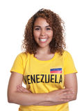 Young woman from Venezuela with crossed arms Stock Image