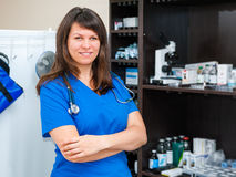 Young woman vet doctor Royalty Free Stock Photos