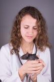 Young woman veterinarian Royalty Free Stock Photos