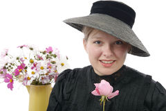 Young woman in  vintage costume 1900s Stock Image