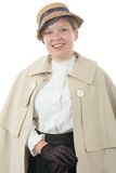 Young woman in  vintage costume 1900s Stock Images