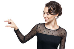 Young woman in vintage dress Royalty Free Stock Photography