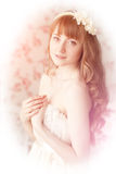 Young woman in vintage lace dress Royalty Free Stock Photography