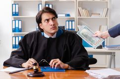 The young woman visiting male lawyer. Young women visiting male lawyer royalty free stock photos