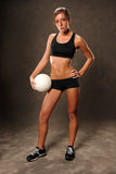 Young Woman With Volleyball Royalty Free Stock Photos