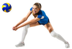 Young woman volleyball player Stock Photography