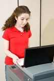 Young Woman Voting Royalty Free Stock Photos