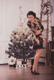 Young woman waiting christmas Royalty Free Stock Image