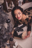 Young woman waiting christmas Royalty Free Stock Photo