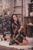Young woman waiting christmas Stock Image