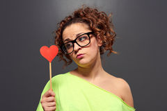 Young woman waiting for love Royalty Free Stock Images