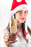 Young woman waiting for the new year Stock Photos
