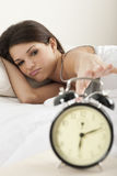 Young woman waking up Royalty Free Stock Photo