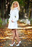 Young woman walking Royalty Free Stock Images