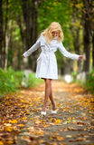 Young woman walking Royalty Free Stock Image