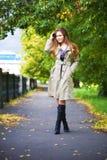 Young woman walking Royalty Free Stock Photo