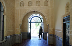 Young woman walking on the Alhambra Stock Image