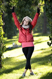 Young woman walking Stock Image