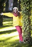 Young woman walking Royalty Free Stock Photos