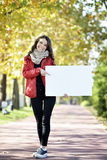 Young woman walking Royalty Free Stock Image