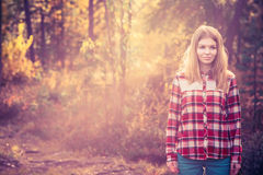 Young Woman walking outdoor Royalty Free Stock Photos