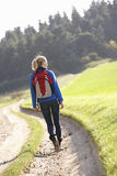 Young woman walks in park Royalty Free Stock Photography