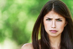 Young woman was offended Royalty Free Stock Photo