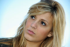 Young Woman Watching Royalty Free Stock Photos