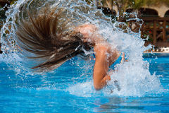 Young woman in the water Royalty Free Stock Photo