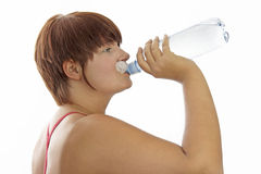 Young woman with water bottle Stock Photo
