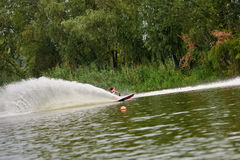Young woman waterskiing Stock Photos