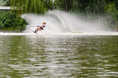 Young woman waterskiing Royalty Free Stock Image