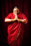 Young Woman Wearing Bollywood-style Sari Stock Image