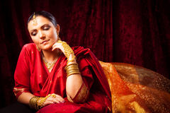 Young Woman Wearing Bollywood-style Sari Stock Photos