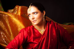Young Woman Wearing Bollywood-style Sari Royalty Free Stock Image