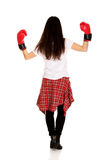 Young woman wearing boxing gloves. Stock Photography
